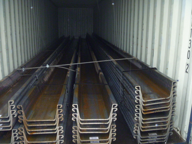 304 tons 3w type Hot rolled Sheet PIling shipped to USA
