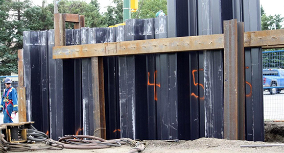 Concrete And Bentonite Replace Sheet Piling In Deep Excavations