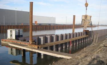 Steel Sheet Piling Retaining Walls