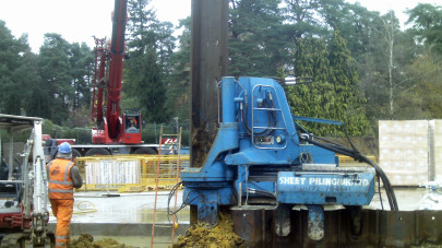 Removing the sheet piles