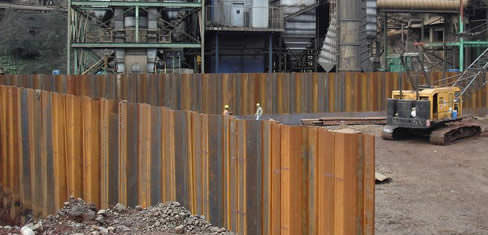 Sheet pile example with DeepXcav