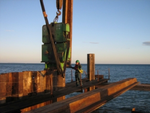Sheet piles in marine construction
