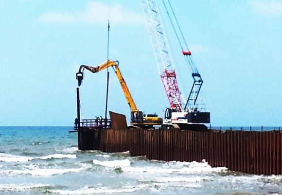 Sheet piling Works - Coffer Dams, Temporary or Permanent Retaining Walls