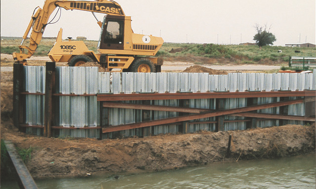 Steel Sheet Piling is roll-formed for a continuous, positive interlock.