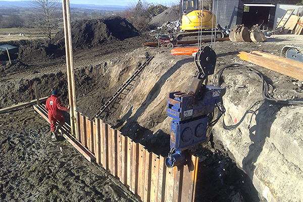 What is sheet pile foundation?
