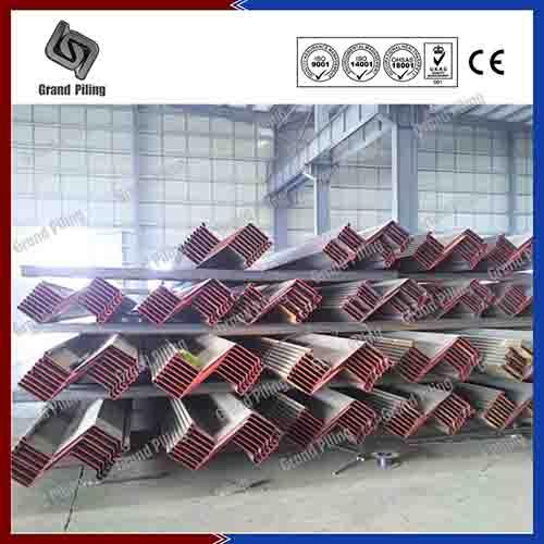 Z type sheet piling